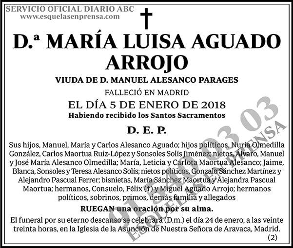 María Luisa Aguado Arrojo